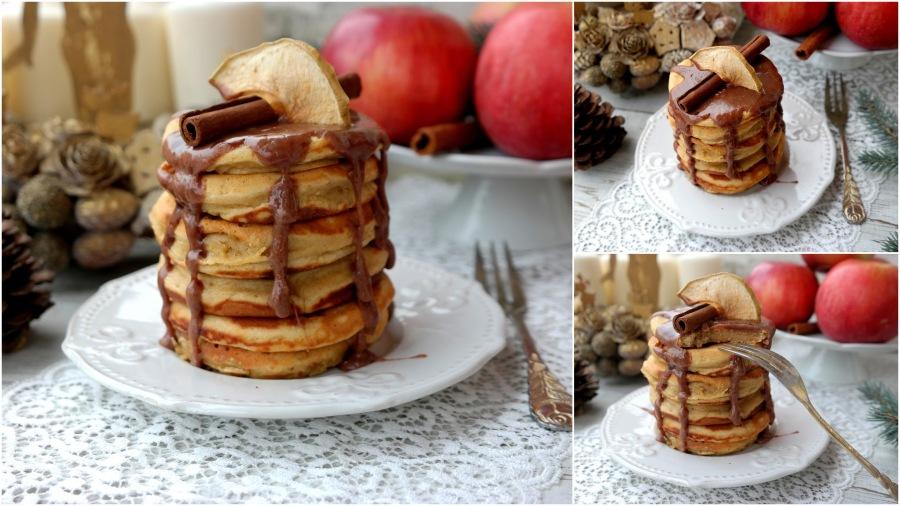 Festliche Apfel-Pancakes mitZimtsauce