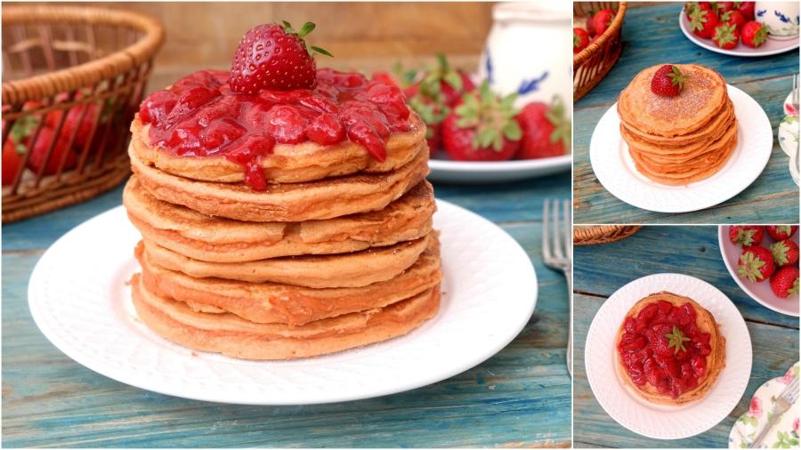Protein Erdbeer-Pancake